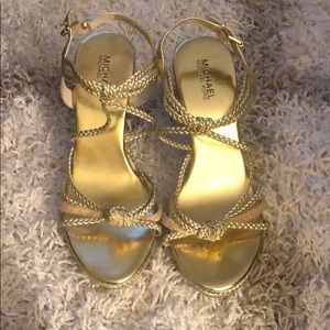 Michael Kors Gold Wedge Shoes